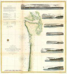 1855 U.S.C.S. Map of Washington and Oregon