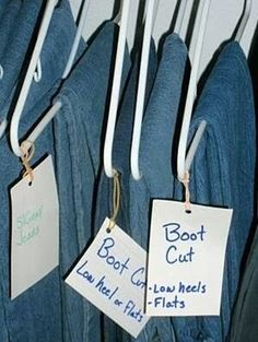 Jeans organizing