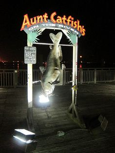 The Daytona Beach (Florida) locals told us to eat at Aunt Catfish's in Port Orange. The atmosphere is delightful and the food and service both are wonderful!