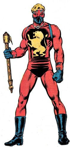 This was Captain Britain's first costume. He switched later to a Union Jack-inspired outfit that became his signature look.