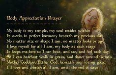 Body appreciation prayer