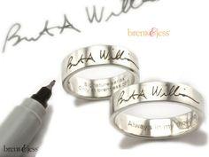 The Signature Ring... Brent & Jess Fingerprint Wedding Rings Custom Handmade Fingerprint Jewelry