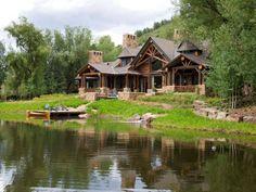 Love Log Cabins nice setting