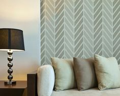 Zig Zag Wall Stencil Large Get Ziggy Stencil to Paint Herringbone Pattern for a Wallpaper Look