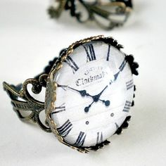 Vintage Clock Face Ring