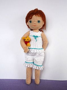 wonderful bleuette doll, pattern from www.byhookbyhand....