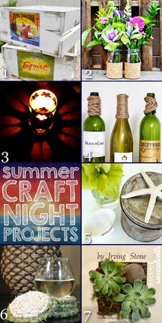 Awesome Summer Craft Night Projects and Inspiration Monday - Refresh Restyle