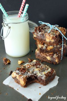 Peanut Butter & Chocolate Cake Bars