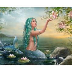 Mermaid Fantasy Art ❤ liked on Polyvore