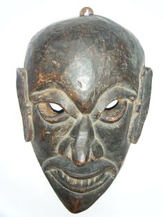 Antique African Mask Vintage Old Rare Handmade Tribal Wooden African Mask #1586