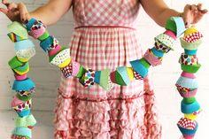 Cupcake Garland  - fun idea for party decor!
