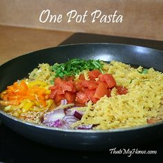one pot pasta recipe- exactly my cooking style!!!