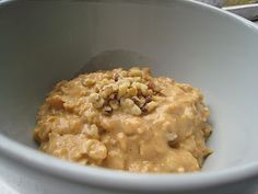 Pumpkin Oatmeal...had to add salt, Brown sugar, and a little more maple syrup. .. kids loved it