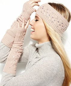 Sperry Headband, Cable Knit Sequin Ear Warmer