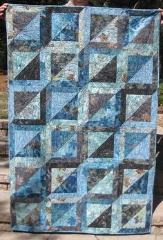 Magic Squares.  Jenny has a tutorial on how to make it on Missouri Star QuiltCo. Video.