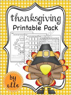 Thanksgiving Math and Literacy Printable Pack from Elementary Elle on TeachersNotebook.com -  (15 pages)  - Thanksgiving math and literacy activities and printables for primary students! Thanksgiving is here and your students will love these Thanksgiving themed math and literacy activities!