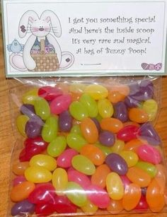 Bunny poop,,,,This is so cute and I just Love Bunny Poop (jelly beans)