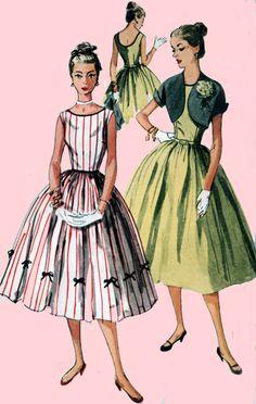 1950s Simplciity 4250 ROCKABILLY Sleeveless Party by sandritocat, $25.00