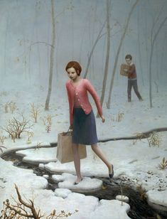 THE OATH BREAKERS  by Aron Wiesenfeld - Oil Painting