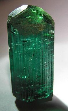 Tourmaline var. Elbaite gem crystal / Santa Rosa mine, Minas Gerais, Brazil
