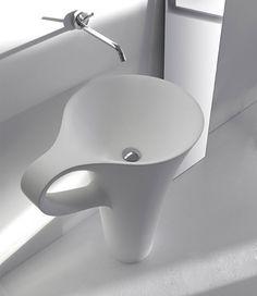 White Coffee Cup Basin Design