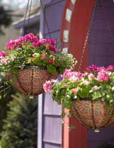 pretty hanging basket liners