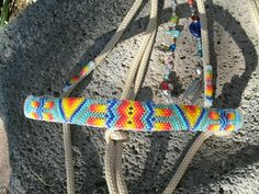 Beaded Rope Halter, Horse Tack - Halter. $165.00, via Etsy.