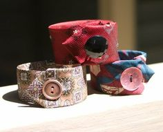 Tie Cuff Bracelet Tutorial: Upcycled Neckties - Ten Fun Craft Ideas and DIY Projects