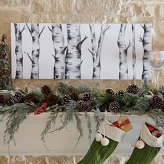 DIY Holiday Mantle Decor