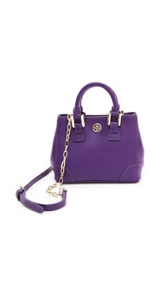Perfect little mini bag in Purple #pantone's color of the year: Radiant Orchid $250 #ToryBurch