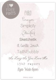 I ♥ Free Fonts by http://dreierlei-liebelei.blogspot.de