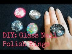 FASHION DIY: Glass Rings using Nail Polish! - YouTube