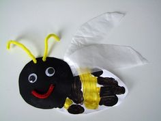 summer crafts, bumbl bee, hands, bumble bee crafts for kids, handprint art, kids crafts bumble bees, bug, hand prints, insect crafts