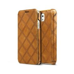 Samsung Galaxy Note 3 Italian Vintage Quilt Diary Collection - Vintage Brown