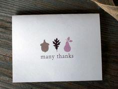Tarjetas para dar las Gracias