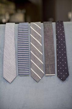 Grey Skinny Tie Combo