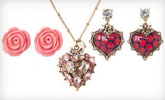 Betsey Johnson Earrings and Necklace (Up to 68% Off)