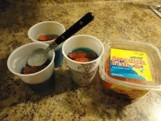 Jonah and the whale snack  Blue jello with swedish fish