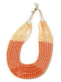 Coral cabana necklace