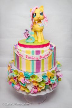 Fluttershy Cake - Cake by JackiesHomeBakes