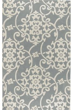 Merit II Area Rug: $600 8x11 dining rooms, living rooms, patterns, living room rug, area rugs, silver, robin egg blue, grey, bedroom