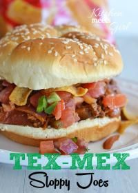 TEX MEX Sloppy Joes...If you like bacon, jalapenos, and the smoky flavors of chili powder, cumin and coriander, this version is for you! #sloppyjoes