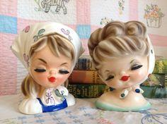 Little Girl Head Vases