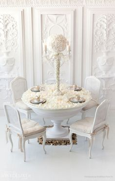 table settings, white flowers, idea, tabletop decor, centerpiec, white roses, flower cakes, white weddings, wedding bells