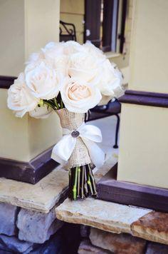 white roses, bridal bouquet