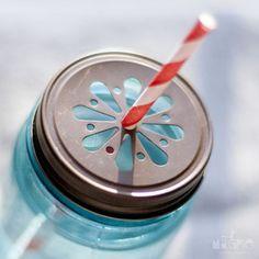 punched mason jar lid