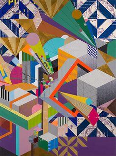 3d shapes, art paintings, mixedmedia, color, clarks