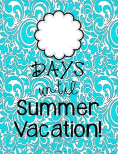 Use this Summer Vacation Countdown poster in your classroom, teacher's lounge, front office, or in your home! Just print the design you like, put it in a 8x10 frame, and use a dry erase marker on the glass! If you don't have a frame, just laminate the poster and use a dry erase marker to count down the days until summer vacation! {FREE}