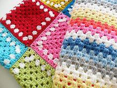 Cheerful colors  #crochet #granny_square #granny_stripe #color