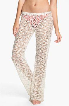 Becca Crochet Cover-Up Pants | Nordstrom